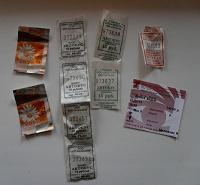 Отдается в дар Билетики на транспорт г.САМАРА + билет кино