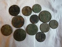 Отдается в дар Монеты 18-19 век на очистку