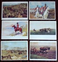 Отдается в дар Открытки из набора Картины Ф.А. Рубо в музее панораме «Бородинская битва»