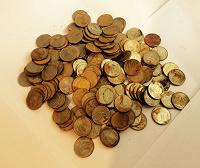 Отдается в дар Монеты 10 рублей, 2,5 кг, выпуск 1992-93 гг.