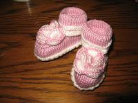 Отдается в дар Новые пинетки на новорожденную девочку. Размер 0.