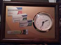 Отдается в дар Часы в рамке