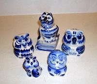 Отдается в дар СОВА, 5 сов, керамика