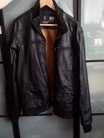 Отдается в дар Кожаная куртка мужская размер L