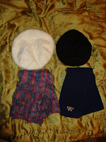 Отдается в дар Шапочки-береточки и шарфики