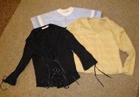 Отдается в дар пять рубашек и блузок для девушки 44-46 р