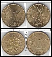 Отдается в дар Монеты Евродесятки