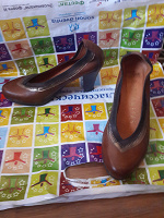 Отдается в дар Туфли коричневые 35,5-36 размер