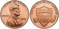 Отдается в дар Монета 1 цент