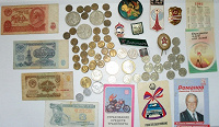 Отдается в дар Монеты, боны, значки, календарики