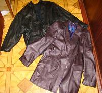 Отдается в дар две кожаные куртки женские