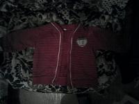 Отдается в дар детская кофта красная в хорошем состоянии от 6мес.