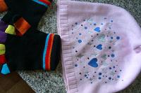 Отдается в дар Шапочка и перчатки для девочки