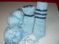 Отдается в дар Вязанные носочки на малыша.