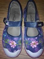 Отдается в дар джинсовые кеды-туфли