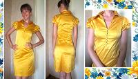 Отдается в дар Медовое платье. 42-44 размер
