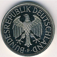 Отдается в дар 1 Deutsche Mark 1990г