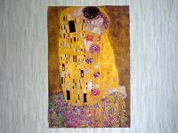 Отдается в дар Плакат с репродукцией картины Г. Климта «Поцелуй»