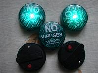 Отдается в дар Значки «Нет вируса» от Касперского.