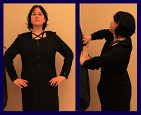 Отдается в дар Платье готическое чёрное