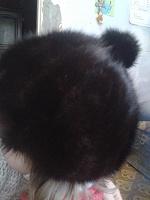 Отдается в дар Норковая шапка на миниатюрную женщину