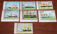 Отдается в дар Любимый морской транспорт — марки