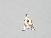 Отдается в дар Золотой кулончик в виде буквы М
