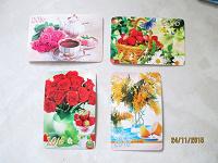 Отдается в дар карманные календарики с натюрмортами