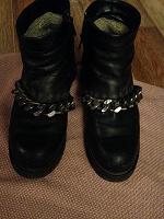 Отдается в дар Утеплённые ботинки с цепями
