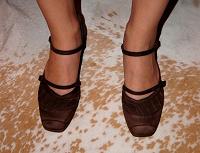 Отдается в дар Коричневые туфли — 41 размер