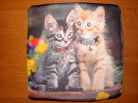 Отдается в дар Подушка с котиками