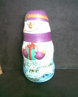 Отдается в дар Коробка в виде снеговика