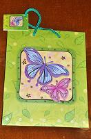Отдается в дар Пакет подарочный с бабочками
