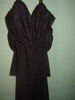 Отдается в дар Вечернее черное платье, оч длинное)
