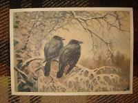 Отдается в дар Открытка с воронами