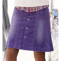 Отдается в дар Стрейчевая вельветовая юбка(передар от Veda)