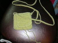 Отдается в дар плетеная махонька сумочка