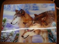 Отдается в дар Картинка «Волки» А4