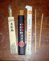Отдается в дар три комплекта палочек для суши