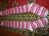 Отдается в дар Полосатые гетры розовые.