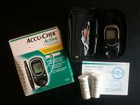 Отдается в дар Глюкометр Accu-Chek Active (как новый)