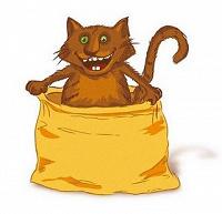 Отдается в дар котенок в мешке Серенький.