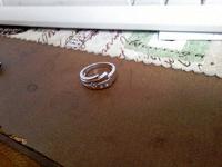Отдается в дар Отдам в дар серебреное кольцо, размер около 17мм