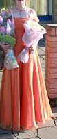 Отдается в дар рыжее свадебное или торжественное платье