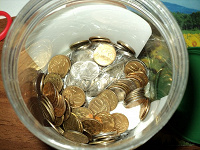 Отдается в дар Много монет по 10коп.