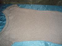 Отдается в дар Вязаный свитер-платье р-р 44