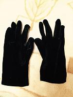 Отдается в дар Бархатные женские перчатки