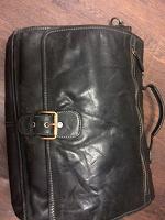 Отдается в дар Мужская сумка-портфель. кожаный. casual