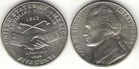 Отдается в дар 5 центов США «приобретение Луизианы»