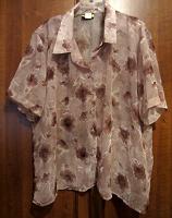 Отдается в дар Прозрачная летняя блузка (большой размер)